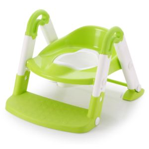 Reductor pentru toaleta cu scarita Little Mom Stair Potty Green