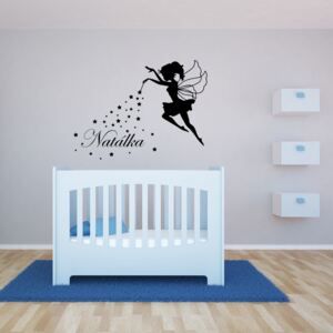 GLIX Magic Fairy - autocolant de perete Negru 90 x 70 cm