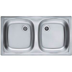 Chiuveta de bucatarie incastrabila Alveus Basic 160 Satin, 780x435 mm, Finisaj Inox satinat - Polished