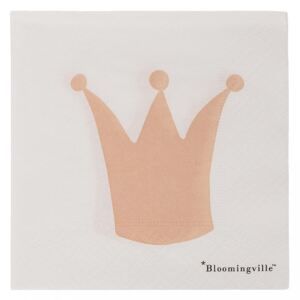 Set 20 servetele albe 25x25 cm Crown Bloomingville