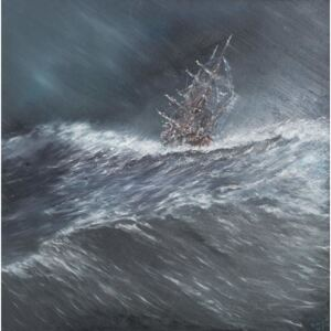 Beagle in a storm off Cape Horn (2) Dec.24th1832, 2014, Reproducere, Vincent Alexander Booth