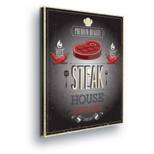 GLIX Tablou - Retro Steak House Decoration 100x75 cm