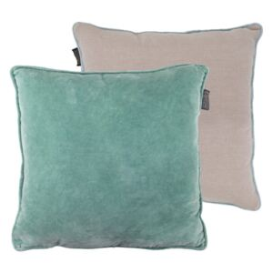 Perna decorativa patrata verde din bumbac 50x50 cm Bleached Faye LifeStyle Home Collection