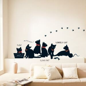 Set autocolante Ambiance Cats with Bowties