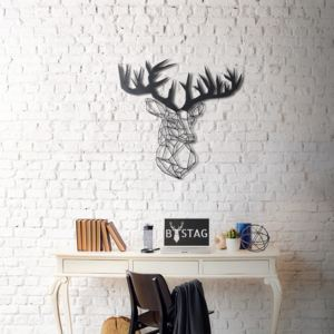 Decorațiune din metal pentru perete The Old Deer, 72 x 75 cm