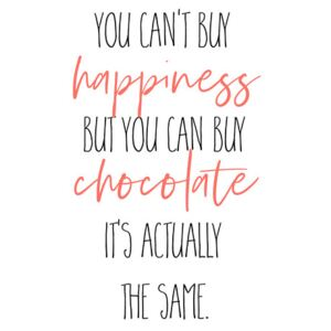 Ilustrare YOU CAN'T BUY HAPPINESS – BUT CHOCOLATE, Melanie Viola