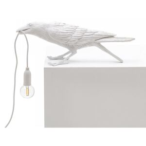 Lampa alba din rasina 33,5x11,5cm Bird Playing Seletti