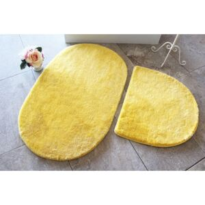 Set 2 covorase baie , Alessia Home, Colors of Oval - Yellow