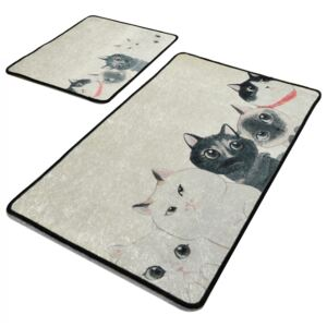 Set 2 covorase baie, Alessia Home, Angry Cats DJT