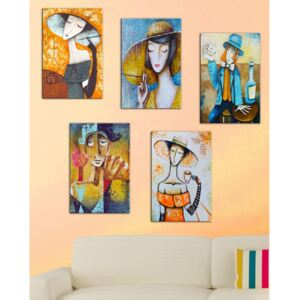 Set 5 tablouri Tablo Center Modern Woman