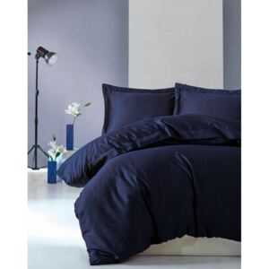 Lenjerie de pat premium satin de lux, Cotton Box, Elegant - Dark Blue