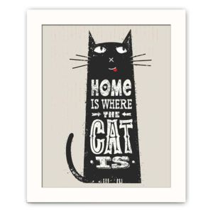 Tablou decorativ Cat, 28,5 x 23,5 cm