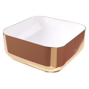 Lavoar Hidra Gio Evo Decorat Alb-Rose Gold 42x42 h 12
