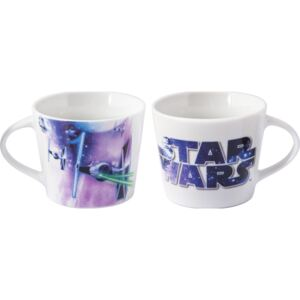 Cana portelan Star Wars Lulabi, 420 ml, Mov/Alb