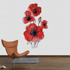 Sticker Decorare Pereti - Poppy Flowers