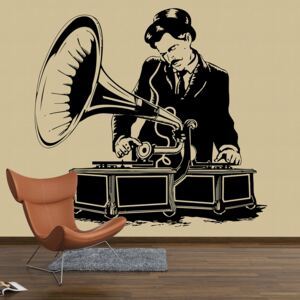 Sticker Decorare Pereti - Gramophone