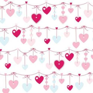 Rola tapet Hearts Decofun, 10 x 0.52 m