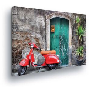 GLIX Tablou - Retro Moped 4 x 30x100 cm