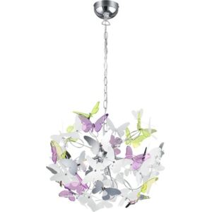 Pendul Butterfly G9 max. 4x28W, multicolor