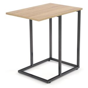 Masa de cafea din pal si metal Narvik Law-1 Sonoma Oak / Black, L60xl40xH60 cm
