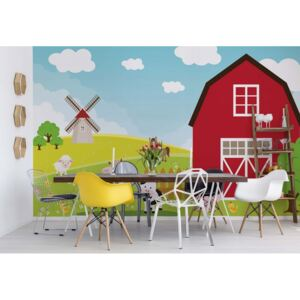 Fototapet GLIX - Cartoon Farm Farmyard Animals + adeziv GRATUIT Nem szőtt tapéta - 208x146 cm