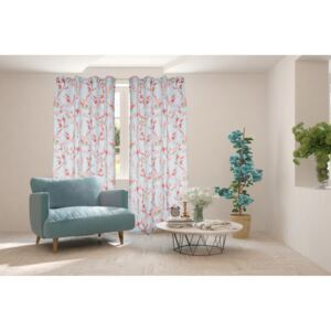 Set 2 draperii Heinner Home 100% bumbac 140x270 Cherry Flower