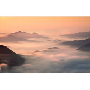 Fotografii artistice foggy morning in the mountains, fproject - Przemyslaw
