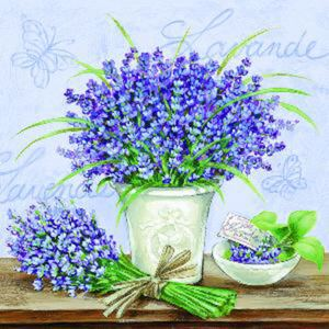 Servetele decorative din hartie cu lavanda 25 cm