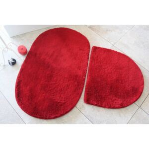 Set 2 covorase baie , Alessia Home, Colors of Oval - Red