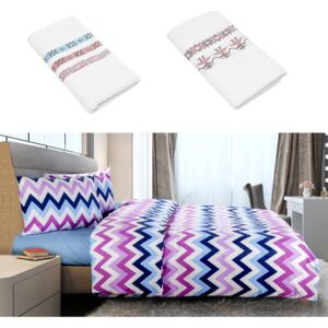 Lenjerie king size Heinner Home 100% bbc organic ZigZag + 2 prosoape cadou