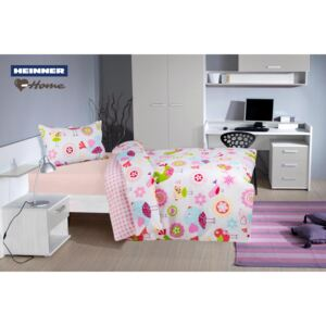 Lenjerie 2 piese single Heinner Home 100% bumbac Birds
