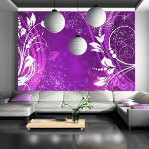 Fototapet Bimago - Purple face of magic + Adeziv gratuit 150x105 cm