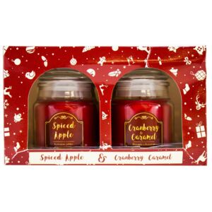 Set lumânări aromate Spiced Apple and CranberryCaramel, 2 buc