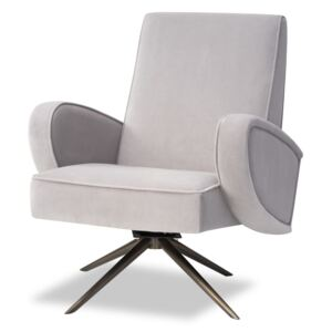 Fotoliu din catifea Strata Chair Kaster Light Grey Velvet