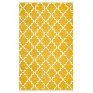 Covor Maze Home NOA, Reversibil, Yellow Grey, 75 x 150 cm