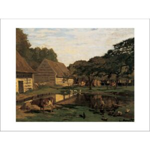 A Farmyard In Normandy Reproducere, Claude Monet, (30 x 24 cm)