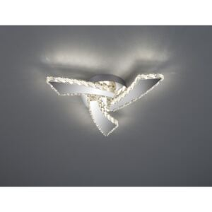 Trio R62483106 Plafoniere PHIN crom metal incl. 1 x SMD, 18W, 3000+4500+6500K, 1800Lm 1800lm IP20 A+