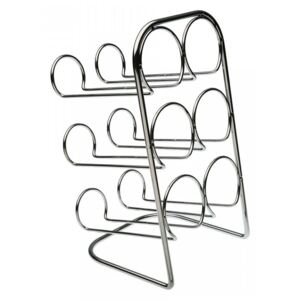 Suport argintiu din metal pentru 6 sticle de vin Wine Holder Versa Home
