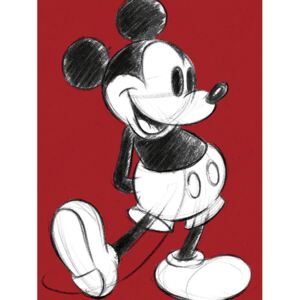 Mickey Mouse - Retro Red Tablou Canvas, (60 x 80 cm)