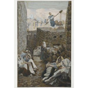 He who Winnows his Wheat, illustration from 'The Life of Our Lord Jesus Christ' Reproducere, James Jacques Joseph Tissot