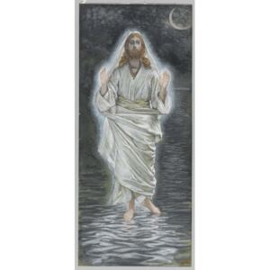 James Jacques Joseph Tissot - Jesus Walks on the Sea, illustration from 'The Life of Our Lord Jesus Christ' Reproducere