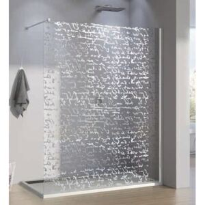 PROMO Cabina dus Walk-in SanSwiss Pur Signs PDT4P 140 x H200 cm