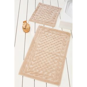 Set 2 covorase baie bumbac, Alessia Home, Bambi - Beige