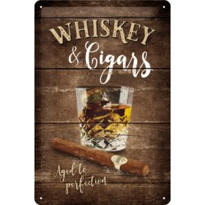 Buvu Placă metalică - Whiskey & Cigars