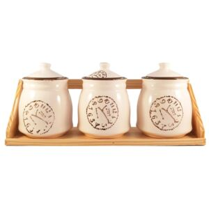 Set Clock din Ceramica 3 Recipiente