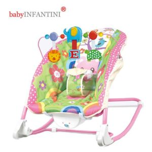 BabyINFANTINI - Balansoar 2 in 1 Happy Friends Pink