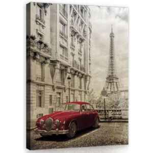Buvu Tablou canvas: Retro Paris - 100x75 cm