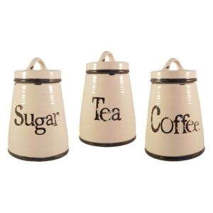 Set Ceramic COFFEE,SUGAR,TEA, 3 recipiente