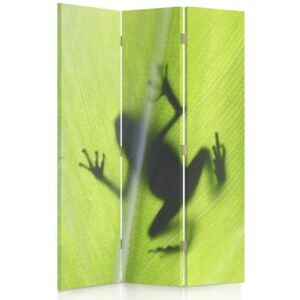 CARO Paravan - A Frog On A Green Leaf | tripartit | unilateral 110x150 cm