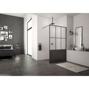 PROMO cabina dus Walk-in SanSwiss Easy Loft 76 Industries 100 x H200 cm